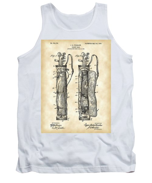 Golf Bag Patent 1905 - Vintage Tank Top by Stephen Younts
