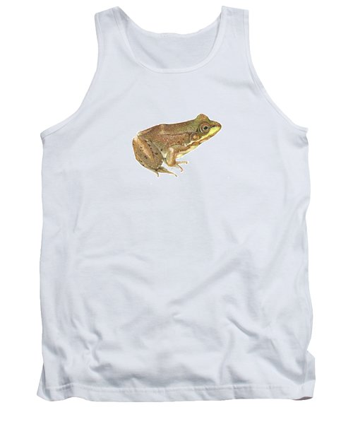 Green Frog Tank Top by Cindy Hitchcock