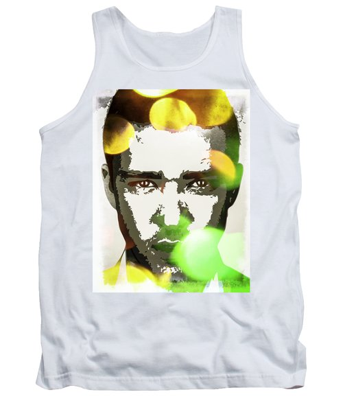 Tank Top featuring the digital art Justin Timberlake by Svelby Art
