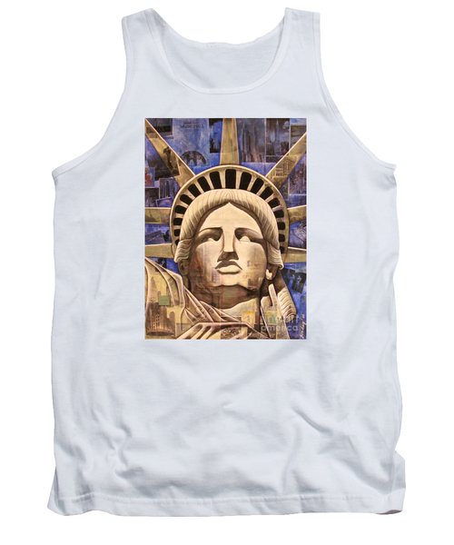 Tank Top featuring the painting Lady Liberty by Joseph Sonday