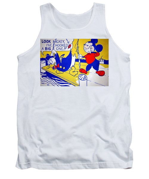 Tank Top featuring the photograph Lichtenstein's Look Mickey by Cora Wandel