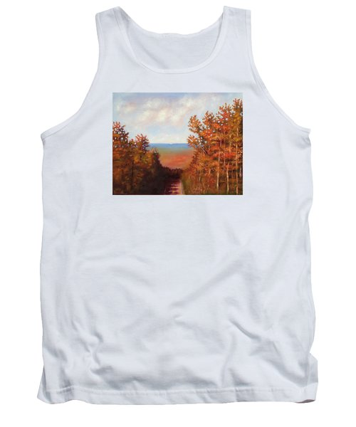Tank Top featuring the painting Mountain View by Jason Williamson