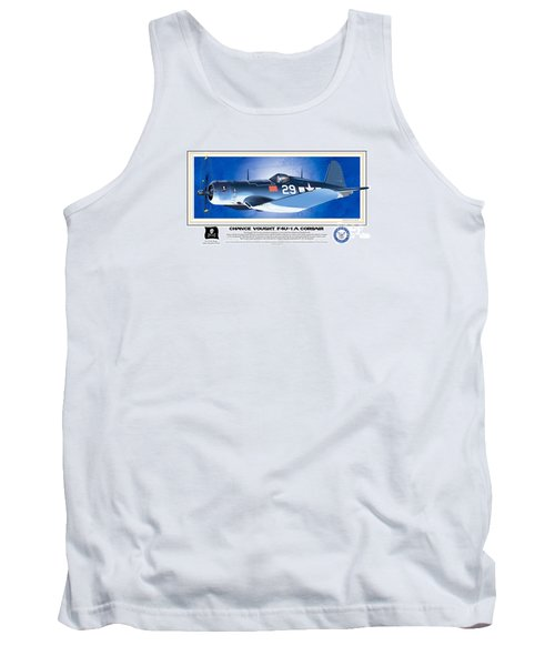 Tank Top featuring the drawing Navy Corsair 29 by Kenneth De Tore
