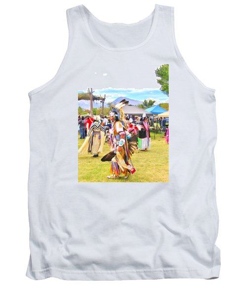 Tank Top featuring the photograph Paiute Powwow by Marilyn Diaz