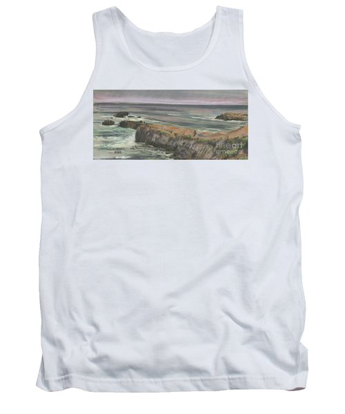 Tank Top featuring the painting Pescadero Beach by Donald Maier