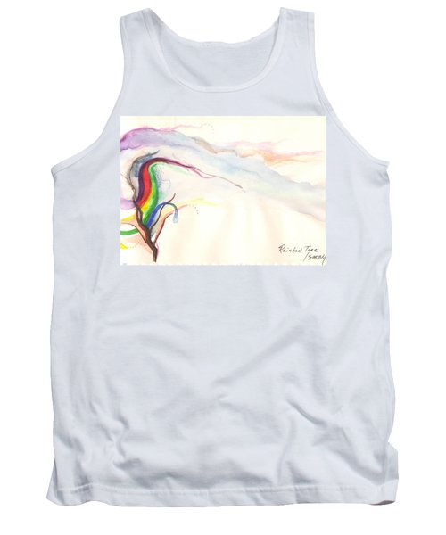 Tank Top featuring the painting Rainbow Tree by Rod Ismay