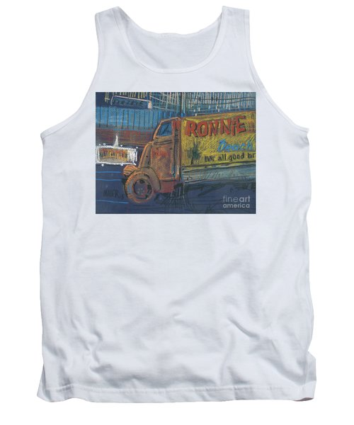 Tank Top featuring the painting Ronnie John's by Donald Maier