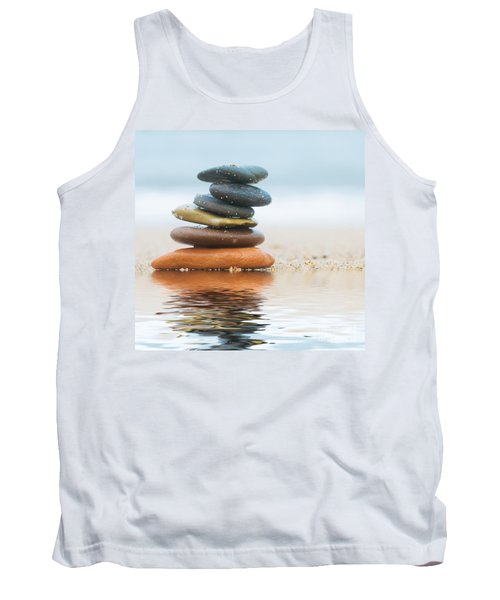 Stack Of Beach Stones On Sand Tank Top