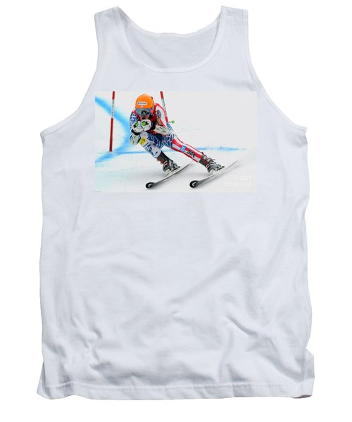 Ted Ligety Skiing  Tank Top by Lanjee Chee