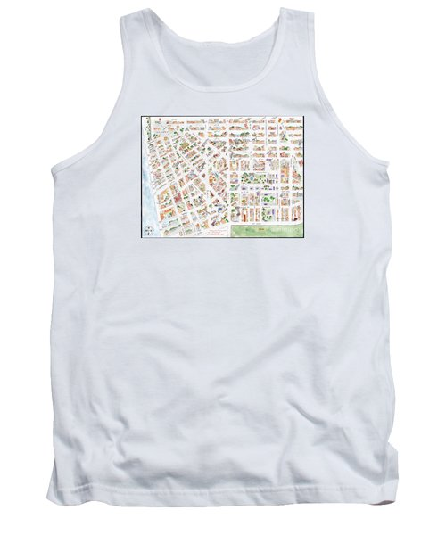 The Greenwich Village Map Tank Top by AFineLyne
