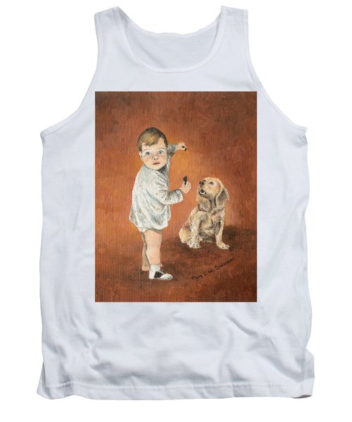 Tank Top featuring the painting The Guilty Ones by Mary Ellen Anderson
