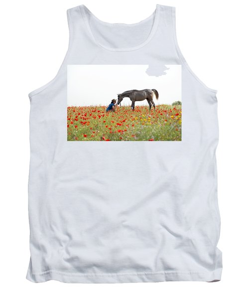 Three At The Poppies' Field... 4 Tank Top