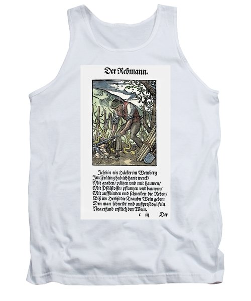 Tank Top featuring the painting Vinegrower, 1568 by Granger