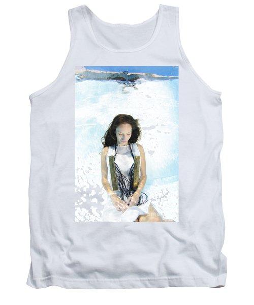 Woman Floats Underwater  Tank Top