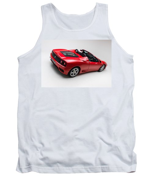 Tank Top featuring the photograph 2002 Ferrari 360 Spider by Gianfranco Weiss