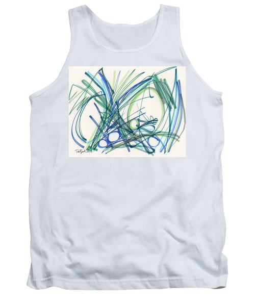 2013 Abstract Drawing #8 Tank Top by Lynne Taetzsch