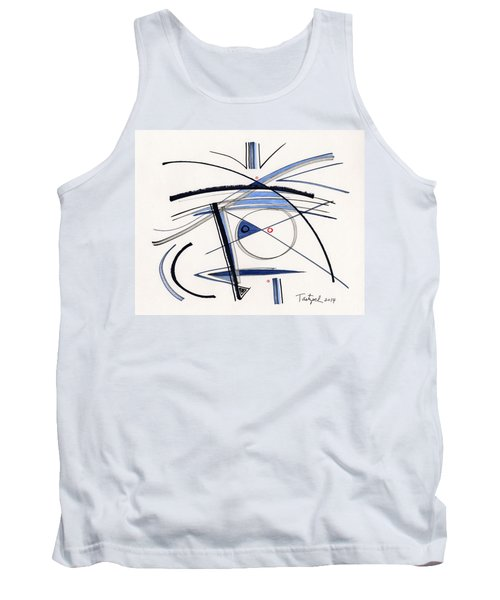 2014 Abstract Drawing #1 Tank Top by Lynne Taetzsch