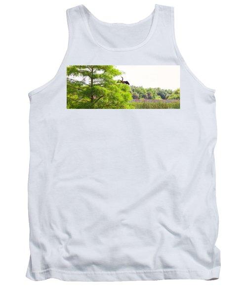 Anhinga Anhinga Anhinga On A Tree Tank Top