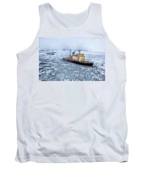 Tank Top featuring the photograph Arctic Sea Ocean Water Antarctica Winter Snow by Paul Fearn