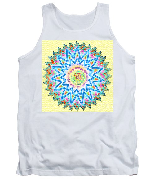 Colorful Signature Art Chakra Round Mandala By Navinjoshi At Fineartamerica.com Rare Fineart Images  Tank Top