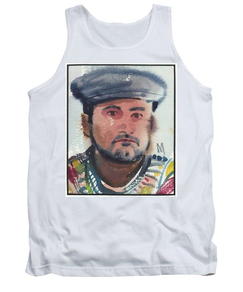 Tank Top featuring the painting Emilio by Donald Maier