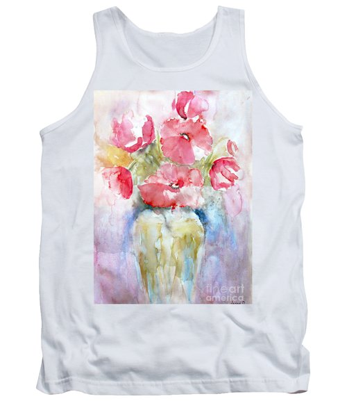 Poppies Tank Top by Jasna Dragun