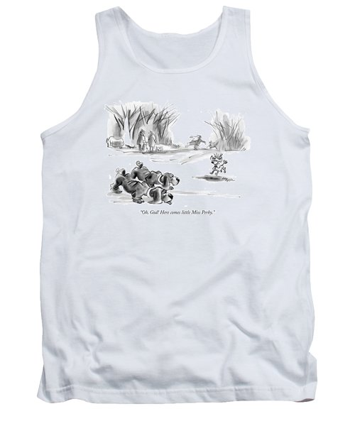 Oh, God! Here Comes Little Miss Perky Tank Top
