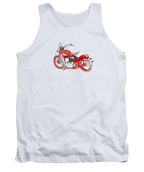Tank Top featuring the drawing 37 Chief Bobber by Terry Frederick