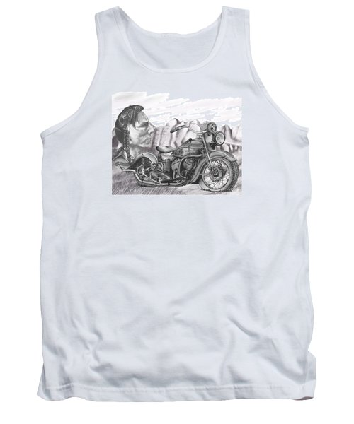 Tank Top featuring the drawing 39 Scout by Terry Frederick