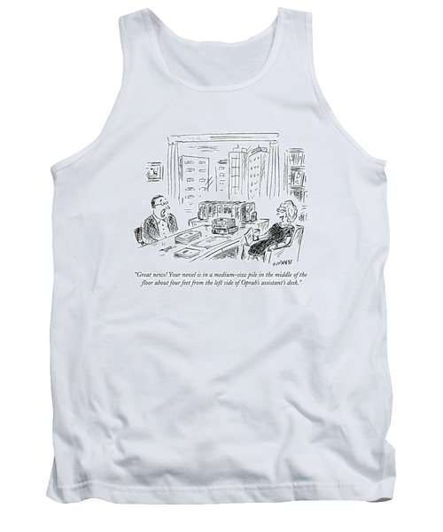 Great News! Your Novel Is In A Medium-size Pile Tank Top