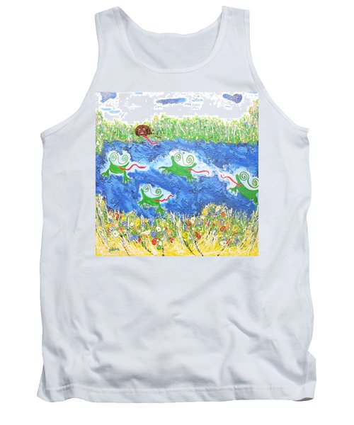 4 Frogs And A Bear Tank Top