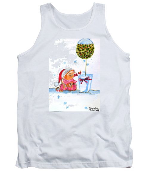 Tank Top featuring the painting Merry Christmas by Magdalena Frohnsdorff
