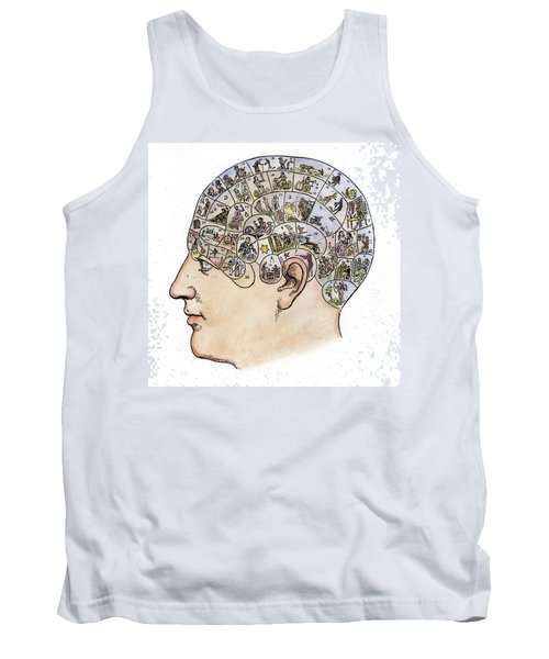 Tank Top featuring the painting Phrenology, 19th Century by Granger