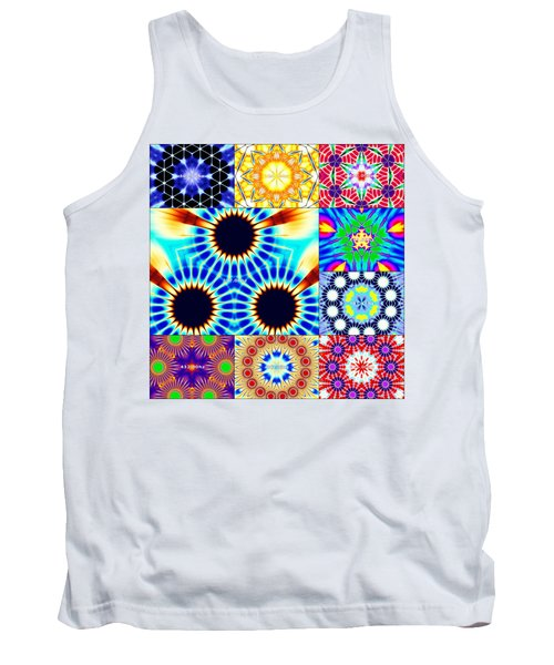 432hz Cymatics Grid Tank Top