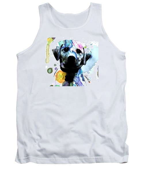 48x44 Labrador Puppy Dog Art- Huge Signed Art Abstract Paintings Modern Www.splashyartist.com Tank Top