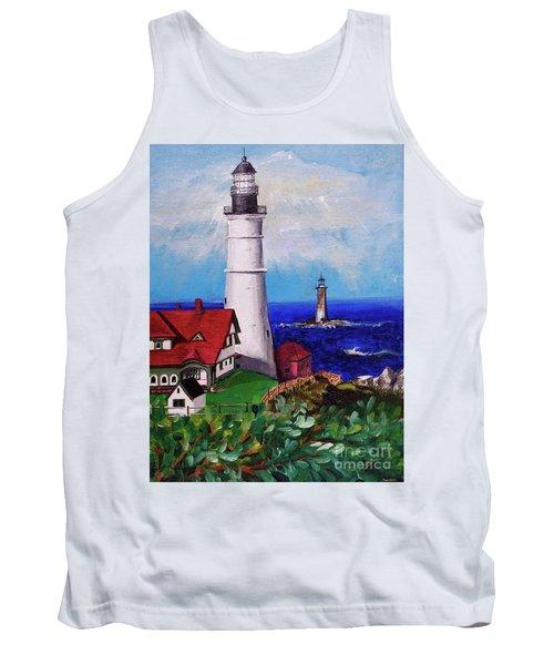 Lighthouse Hill Tank Top by Linda Simon