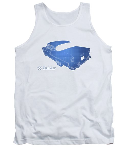 Classic Car Tank Top featuring the photograph '55 Bel Air by Aaron Berg