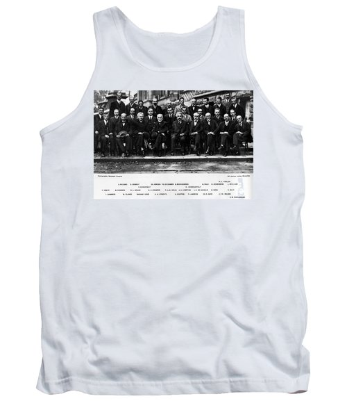 5th Solvay Conference Of 1927 Tank Top