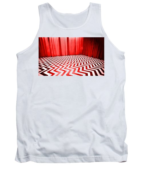 Tank Top featuring the painting Black Lodge by Luis Ludzska