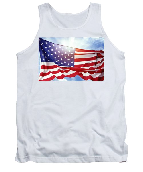 American Flag 55 Tank Top