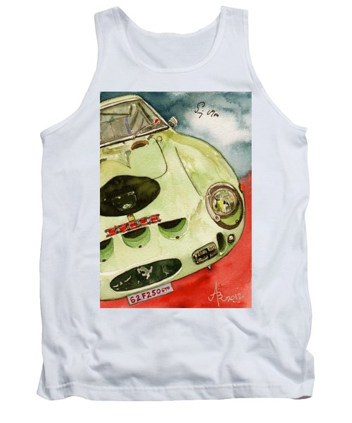 62 Ferrari 250 Gto Signed By Sir Stirling Moss Tank Top by Anna Ruzsan