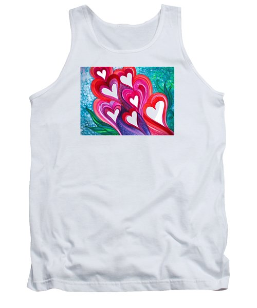Tank Top featuring the photograph 7 Hearts by Adria Trail