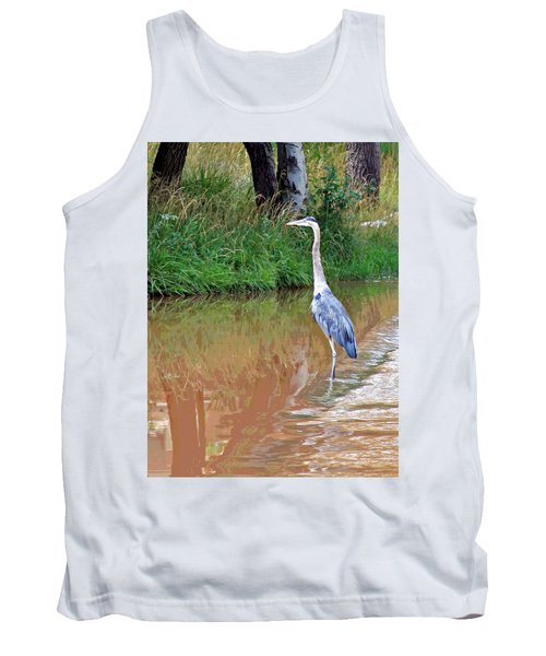Blue Heron On The East Verde River Tank Top