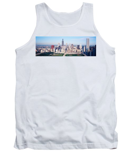 Aerial View Of Buildings In A City Tank Top by Panoramic Images