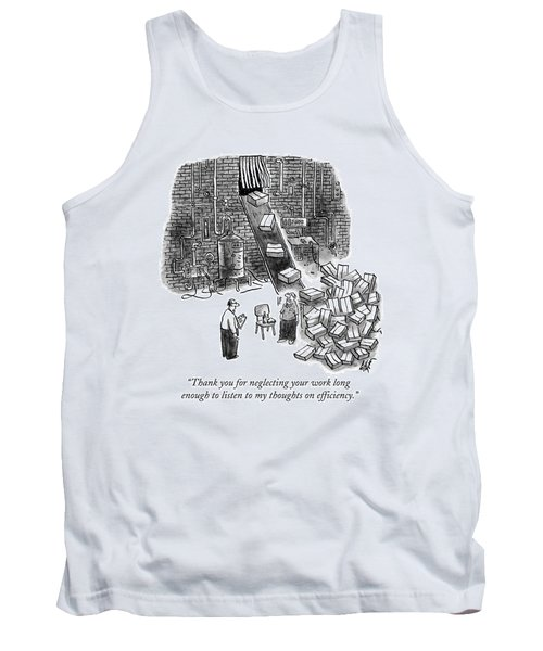 A A Foreman Speaks To A Warehouse Worker Tank Top