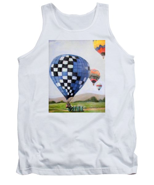 A Balloon Disaster Tank Top by Donna Tucker