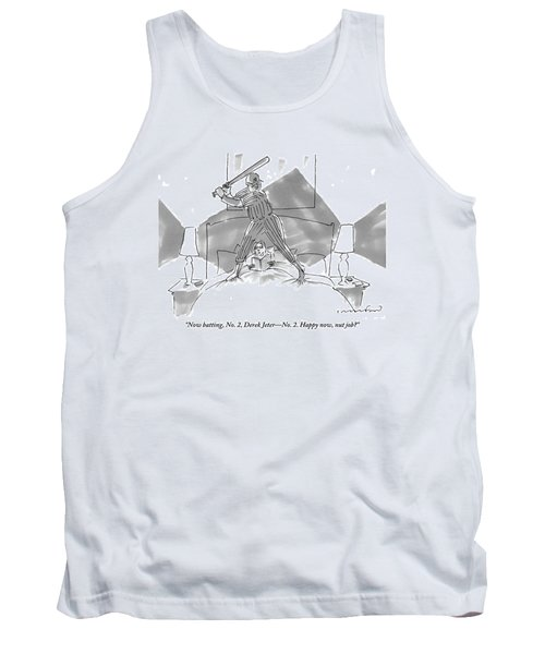 A Baseball Player About To Take A Swing Stands Tank Top