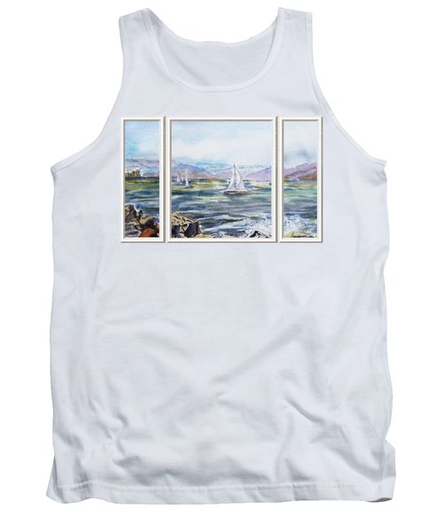 A Bay View Window Rough Waves Tank Top