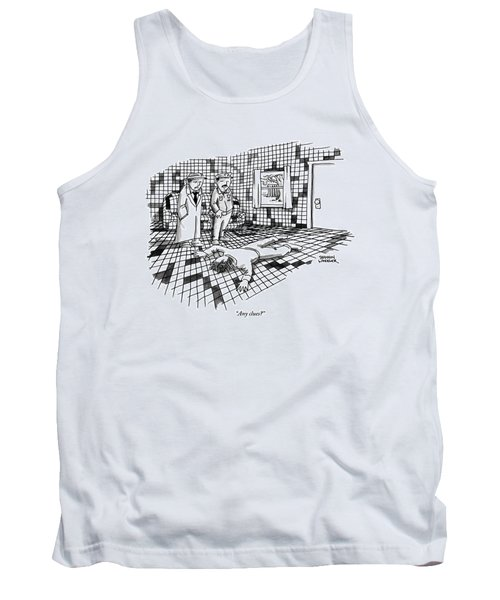 A Body Lies Face Down In A Room Where The Walls Tank Top