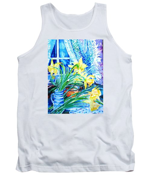 A Bouquet Of April Daffodils  Tank Top by Trudi Doyle